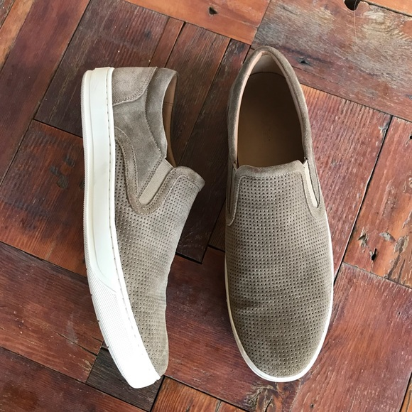 Mens Vince Ace Flint Perforated Slip On